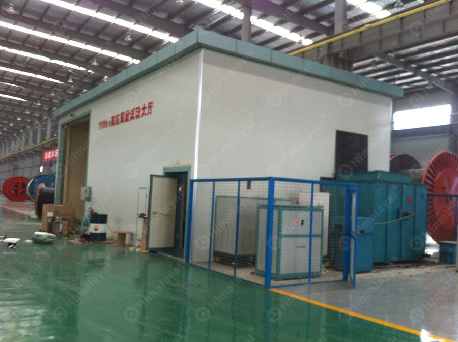 High Voltage Cage : Faraday cage for power cable himalayal high